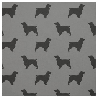 Field Spaniel Silhouettes Pattern Fabric