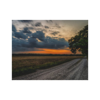 Field storm canvas print