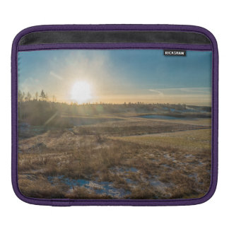 Field winter sunset sleeves for iPads