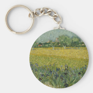Field with Flowers near Arles, Vincent Van Gogh Keychain