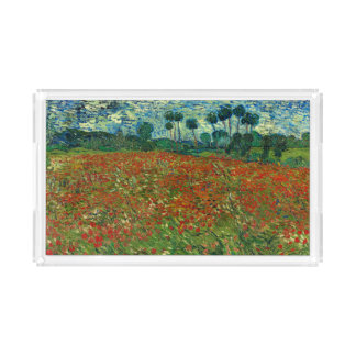 Field with Poppies by Van Gogh Fine Art Acrylic Tray