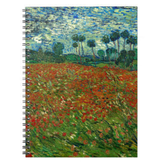 Field with Poppies by Van Gogh Fine Art Notebook
