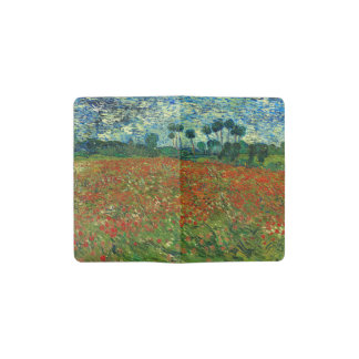 Field with Poppies by Van Gogh Fine Art Pocket Moleskine Notebook