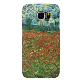 Field with Poppies by Van Gogh Fine Art Samsung Galaxy S6 Cases