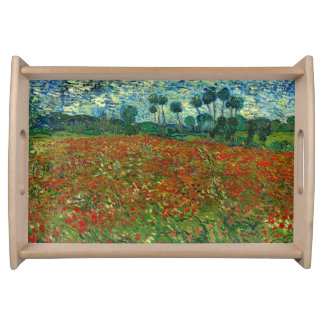 Field with Poppies by Van Gogh Fine Art Serving Tray
