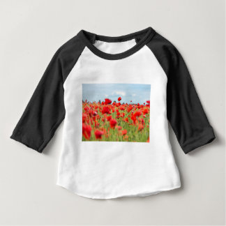 Field with red papavers baby T-Shirt
