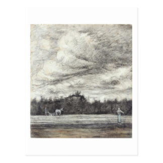 Field with Thunderstorm, Vincent van Gogh Postcard