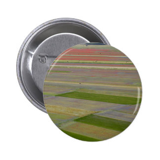 Fields in the Sibellini Mountains in Italy 2 Inch Round Button