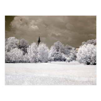 Fields Infrared Photography Postcard