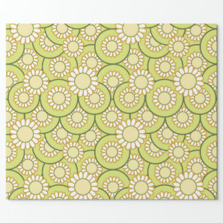 Fields of daisies wrapping paper