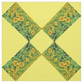 Fields of sunflowers fabric