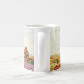 Fields of Tulips with Windmill Claude Monet Mugs