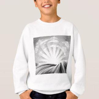 Fields Rolling Hills and Sun Woodcut Sweatshirt