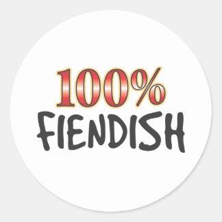 Fiendish 100 Percent Sticker