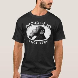 Fier de mon chimpanzé d'ascendance t-shirt