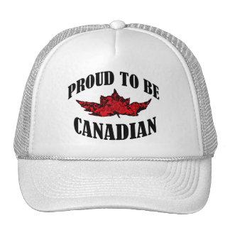 Fier d'être canadien casquettes de camionneur