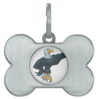 Fierce American Eagle Pet Name Tag