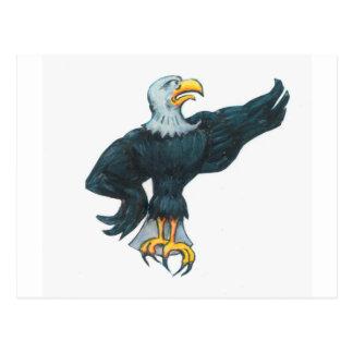 Fierce American Eagle Postcard