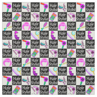 FIERCE AND FABULOUS HAIR STYLIST FABRIC