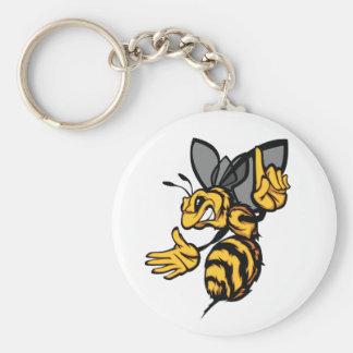 Fierce Bee Keychain