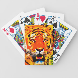 Fierce Bright Orange Siberian Tiger Poker Deck