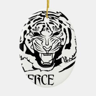 fierce ceramic ornament