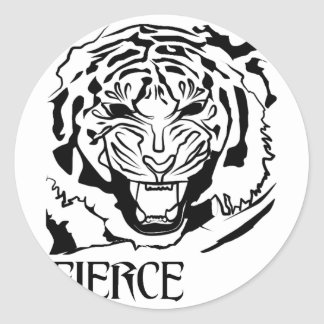 fierce classic round sticker