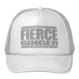 FIERCE GINGER - Fearless Red-Haired Pale Warrior Trucker Hat