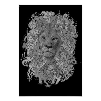 Fierce Lion Poster
