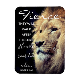 Fierce Lion | Scripture Magnet