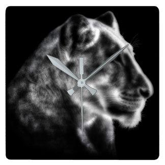 Fierce Lioness Clock