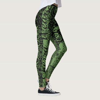 Fierce Momma Army Colored Hot-Pants Leggings