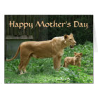 Fierce Momma Lion Mother's Day BIG Card