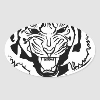 fierce oval sticker
