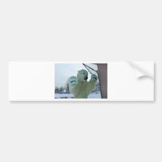 Fierce Polar Bear Bumper Sticker
