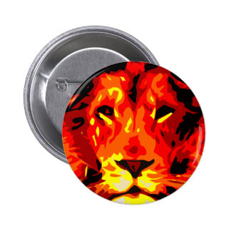 Fierce Red Lion 2 Inch Round Button