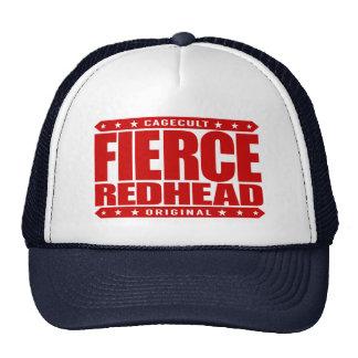 FIERCE REDHEAD - I'm Fearless Fiery Phoenix Rising Trucker Hat