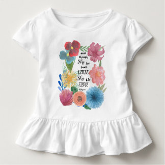Fierce Shakespeare Quote with Watercolor Flowers Toddler T-shirt