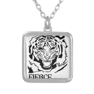 fierce silver plated necklace
