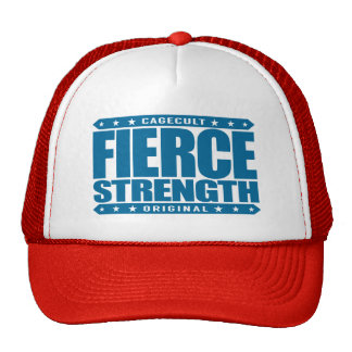 FIERCE STRENGTH - Wild Brazilian Jiu-Jitsu Chimp Trucker Hat