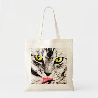 Fierce Tabby Cat Tote