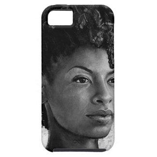 Fierce - Textured Portrait of a Black Woman iPhone 5 Case