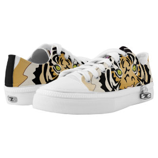 Fierce Tiger eyes print Zipz shoes