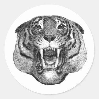 Fierce Tiger Face Sticker