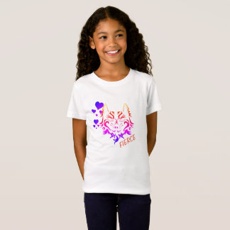 fierce tiger tattoo print for kids shirt