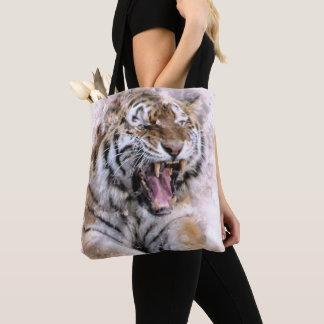 Fierce Tiger Watercolor Tote Bag