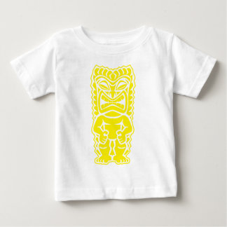 fierce tiki yellow totem warrior baby T-Shirt