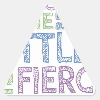 Fierce Triangle Sticker