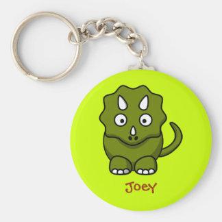 Fierce triceratops keychain