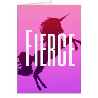 Fierce unicorn card